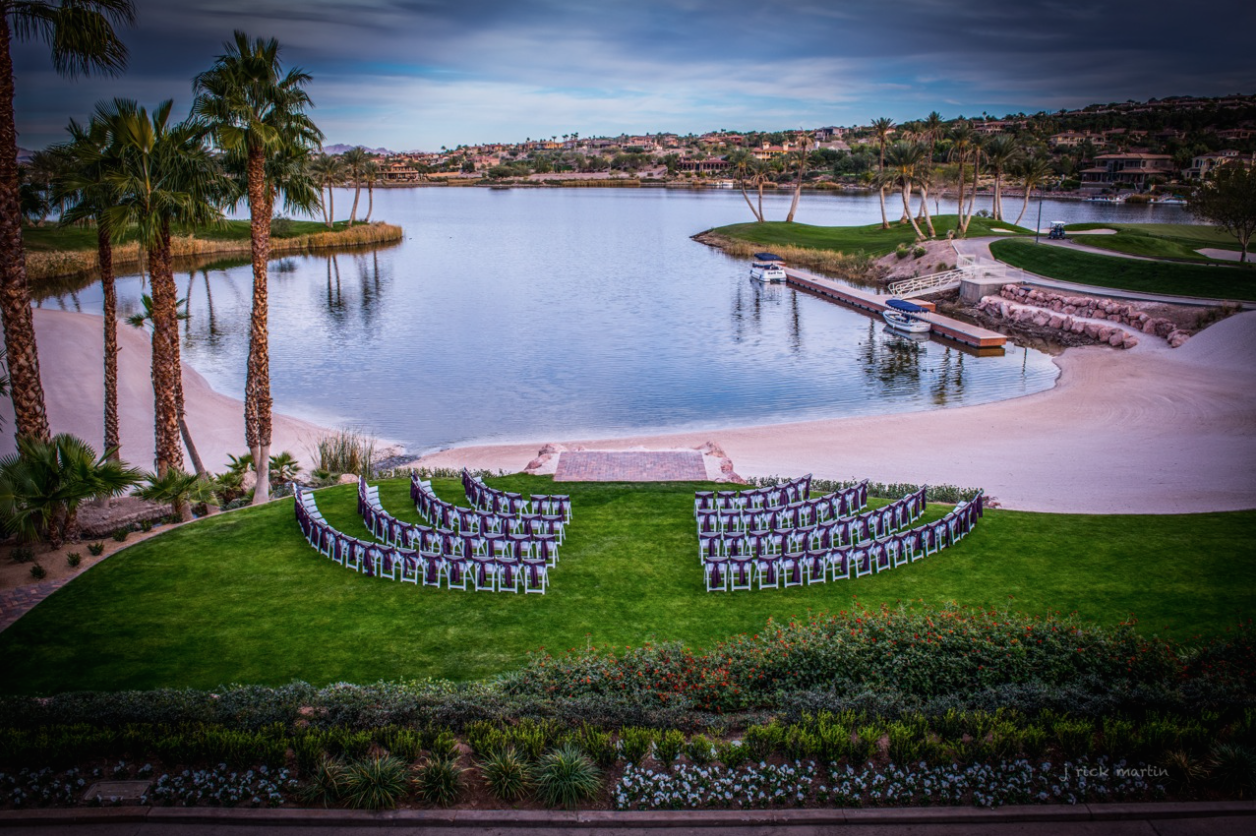 las vegas wedding reflection bay golf club