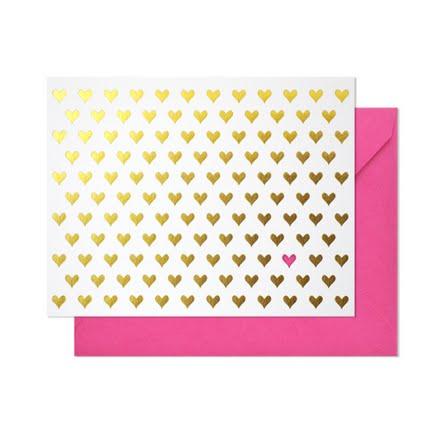 Gold Foil Heart Valentine's Day Cards Las Vegas