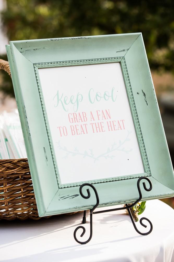 fun wedding sign