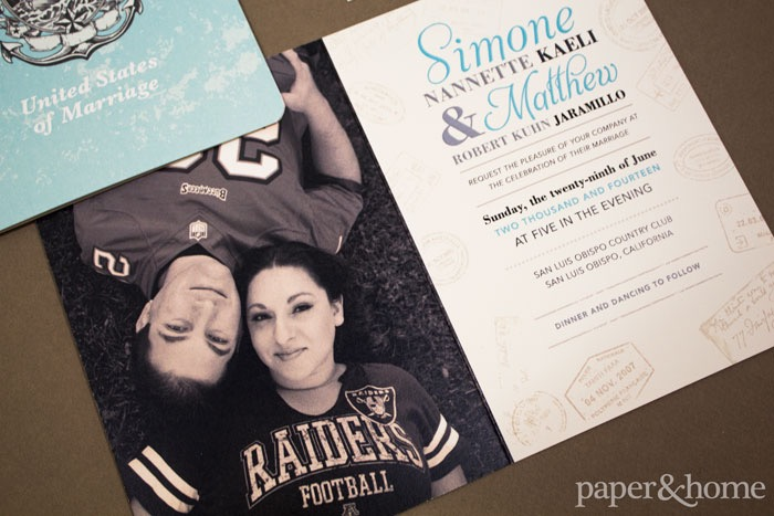photo passport wedding invitations