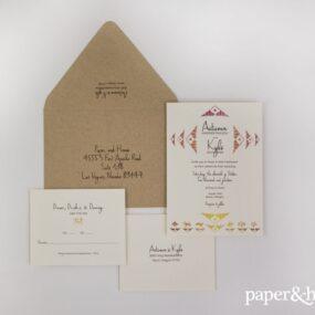 desert wedding invitations
