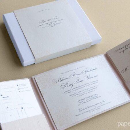 boxed wedding invitations