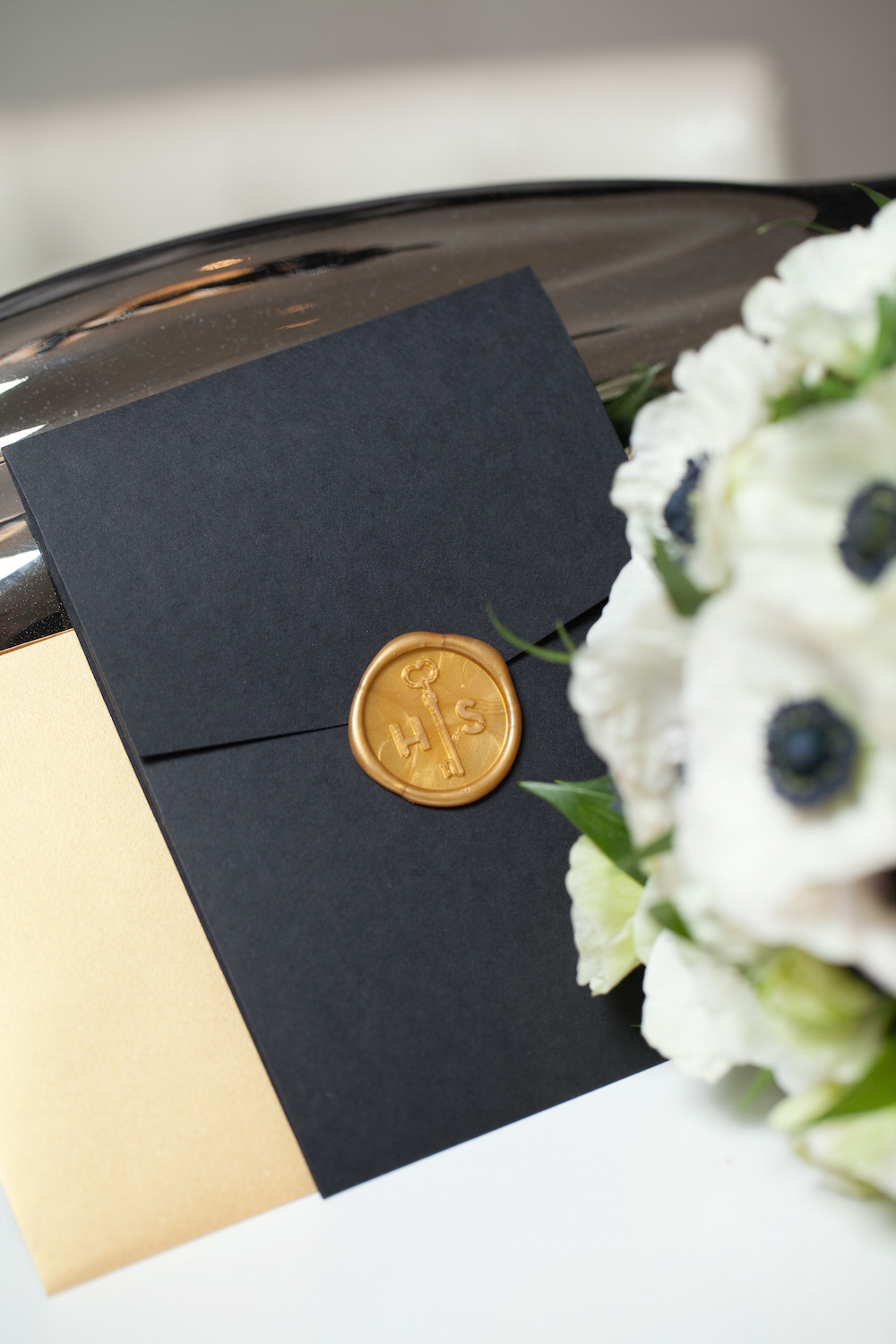 wax seal pocket invitations