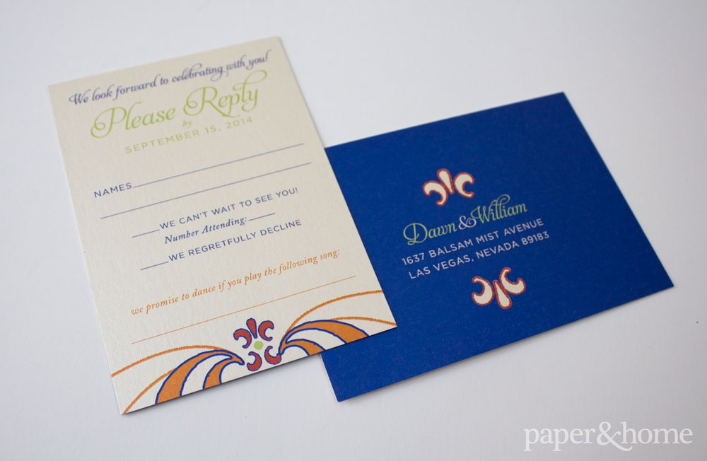 Mexican Wedding Reply Card