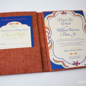 Pocket Mexican Wedding Invitations