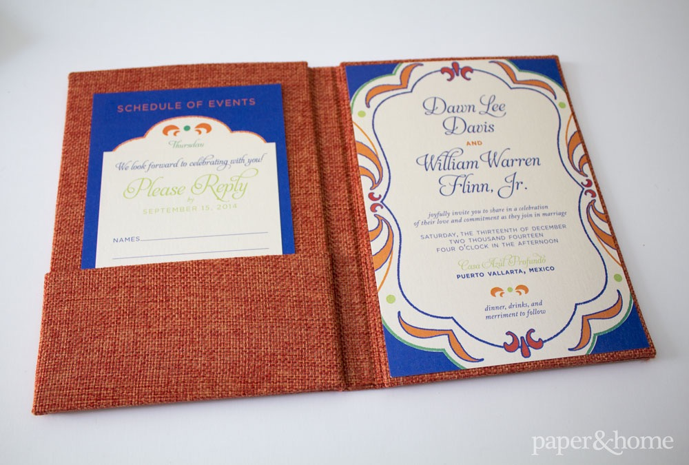 mexican wedding invitations dawn and william  paper and home, Wedding invitations