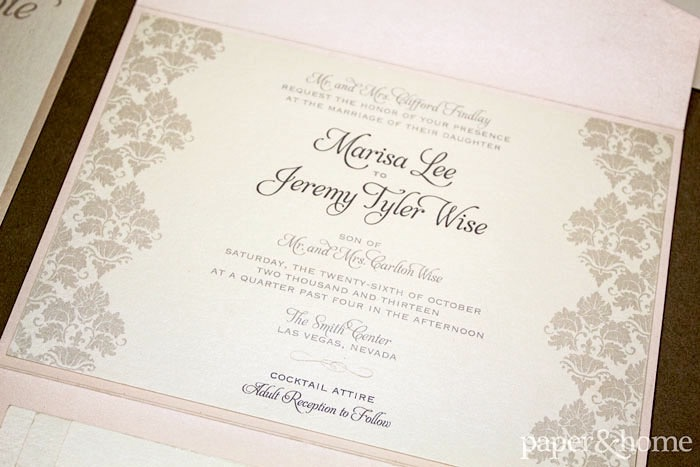 damask wedding invitations - Damask Wedding Invitations