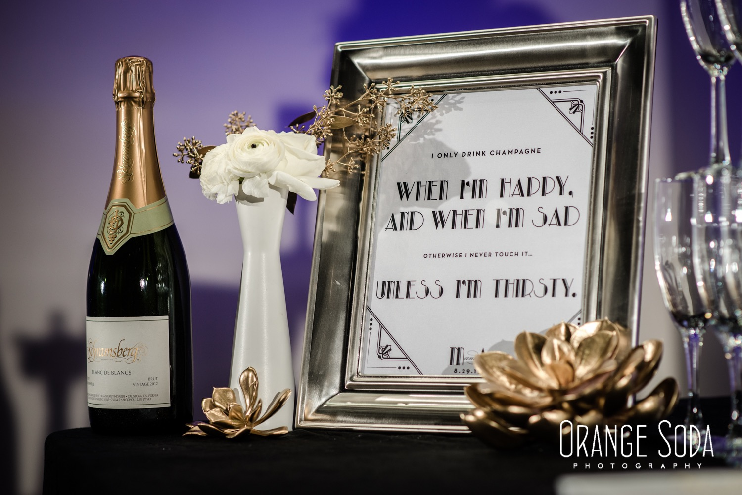Art Deco Wedding Signage