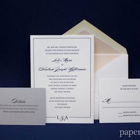 classic black and white wedding invitations