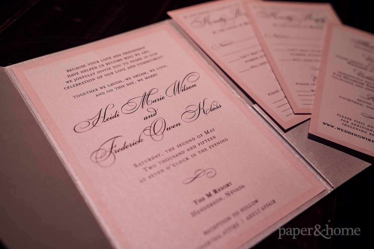 Classic Wedding Invitations: Heidi and Frederick - Paper and Home