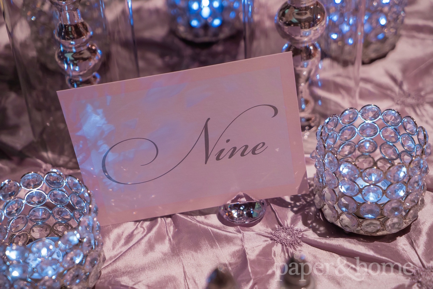 classic wedding table numbers
