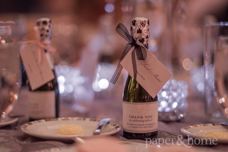 custom champagne bottle labels