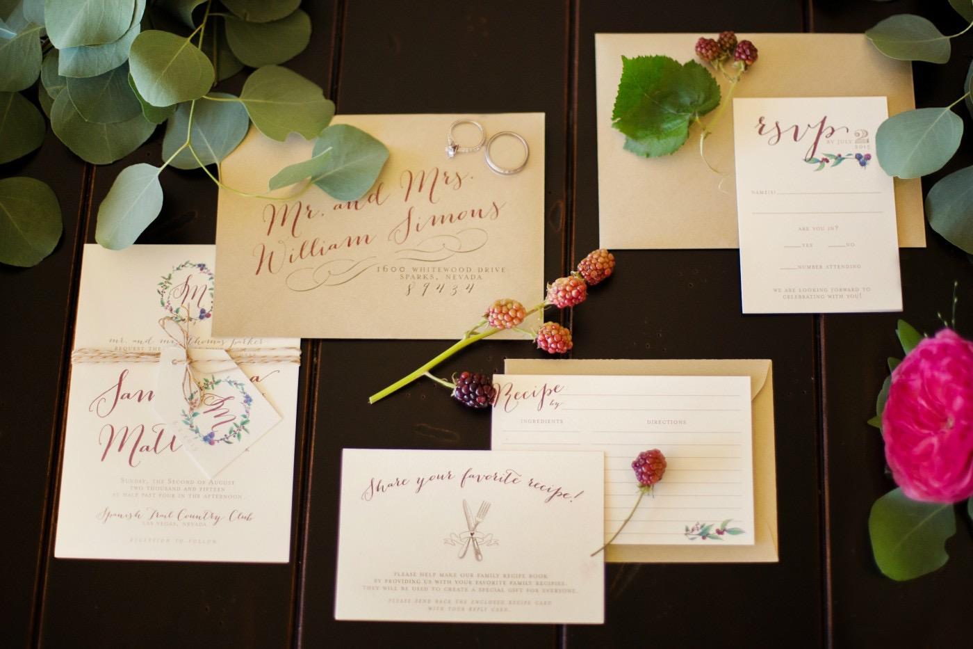 Berry Wedding Invitations