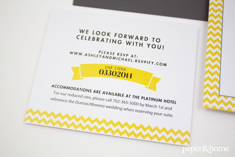 Chevron Wedding Invitations Ashley Michael Paper And Home