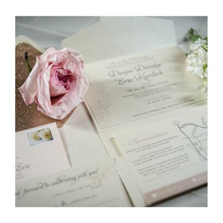 ROSE GOLD GLITTER ENVELOPE LINERS