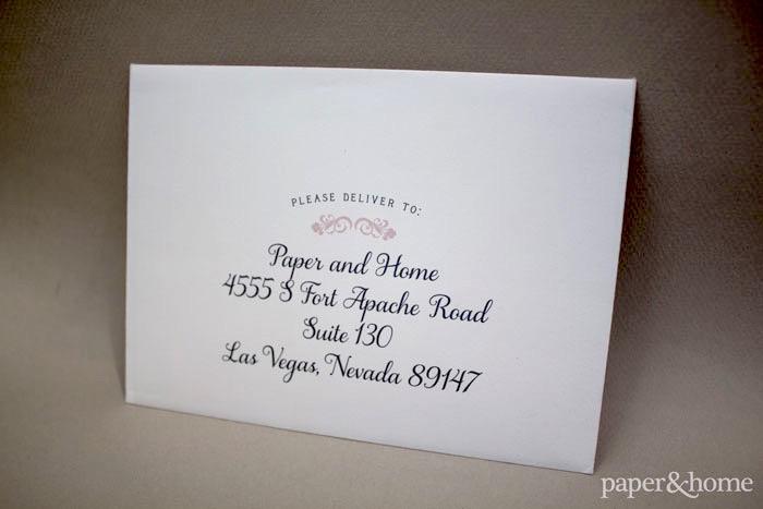 envelope addressing las vegas