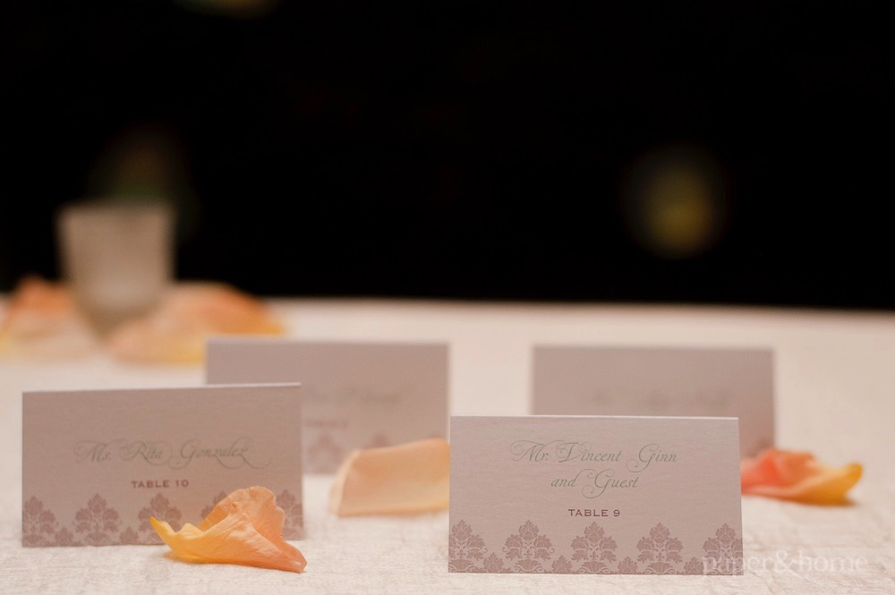 mint and gray escort cards
