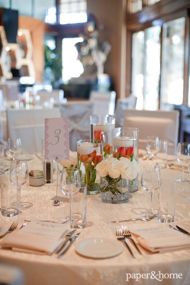 mint and gray wedding invitations
