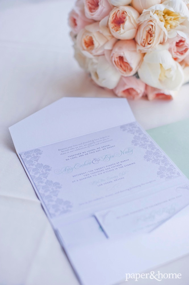mint and gray wedding invitations amy and ben � paper and