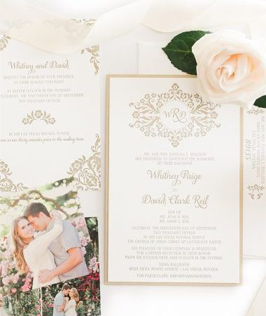 Whitney Wedding Invitation