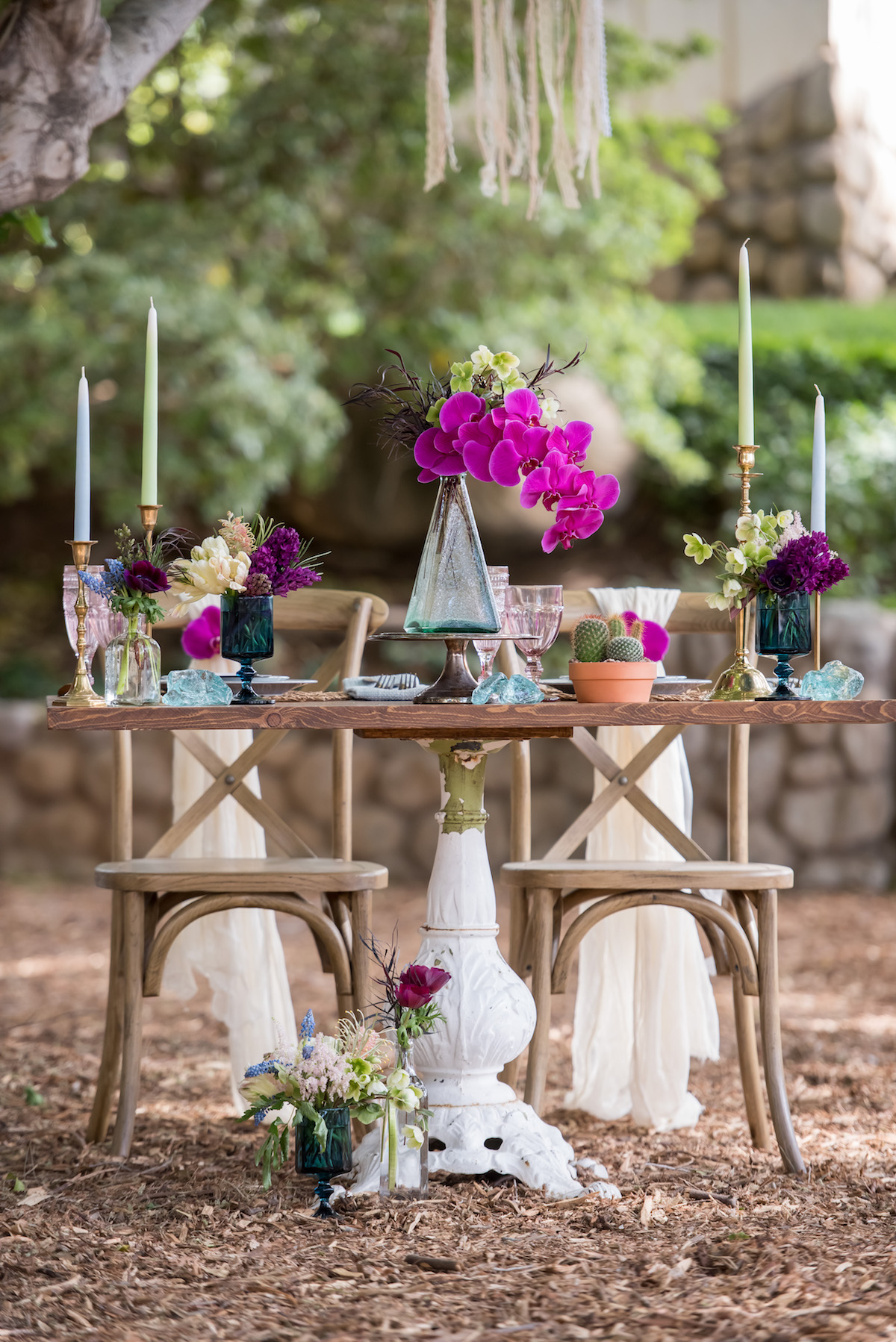 Pink Boho Wedding Centerpieces