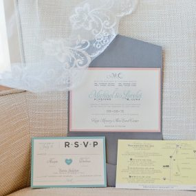 modern pastel wedding invitations