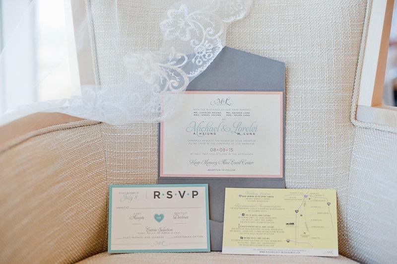 modern pastel wedding invitations