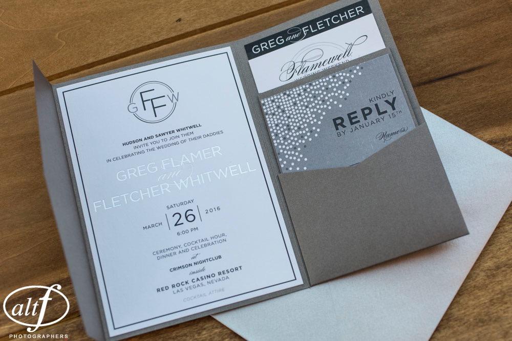 modern elegant wedding stationery