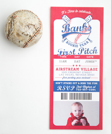 Baseball 1st Birthday Invitations