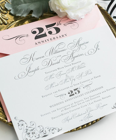 Elegant Letterpress Wedding Invitations thumb