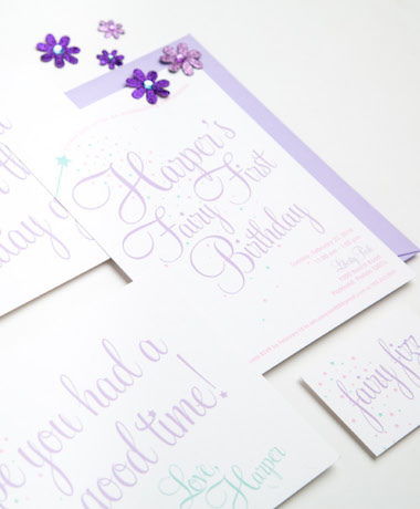 Fairy First Birthday Invitations