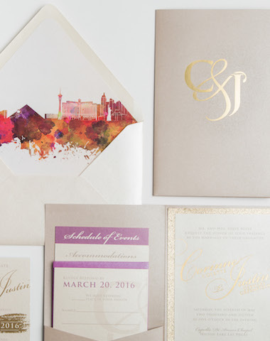 Glitter Wedding Invitations