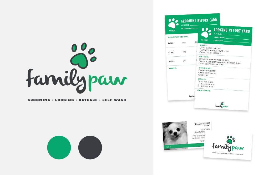 Family Paw Logo Pet Store Branding