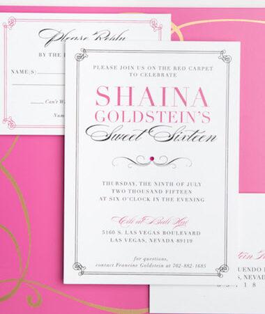 Sweet Sixteen Invitations