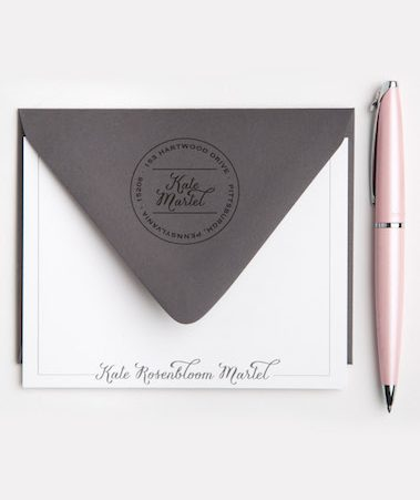 classic personal stationery