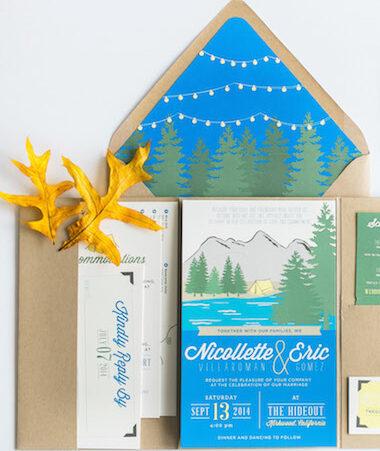 outdoor wedding invitations thumb
