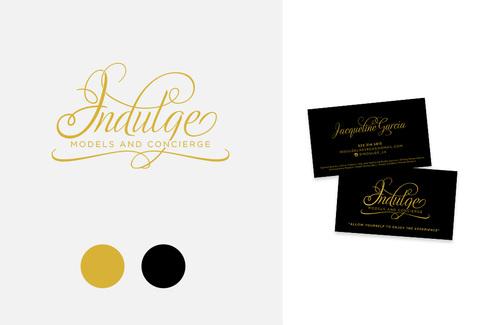 indulge models and concierge logo