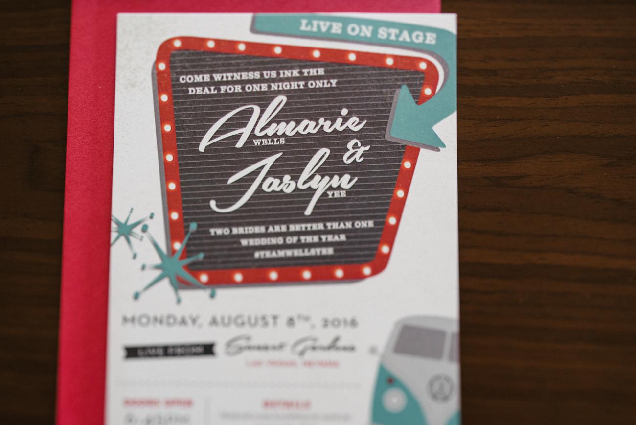 Rockabilly Wedding Invitations Paper