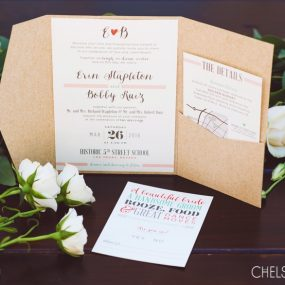 kraft pocket wedding invitations