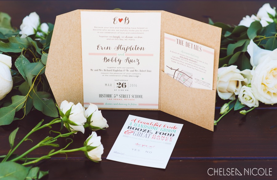 kraft pocket wedding invitations