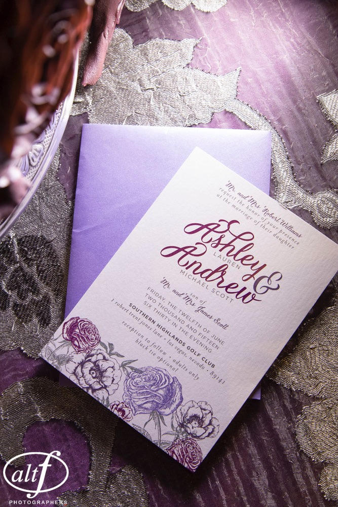 Floral and Lace Wedding Invitations
