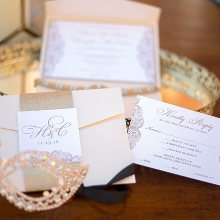 glitter lace wedding invitations