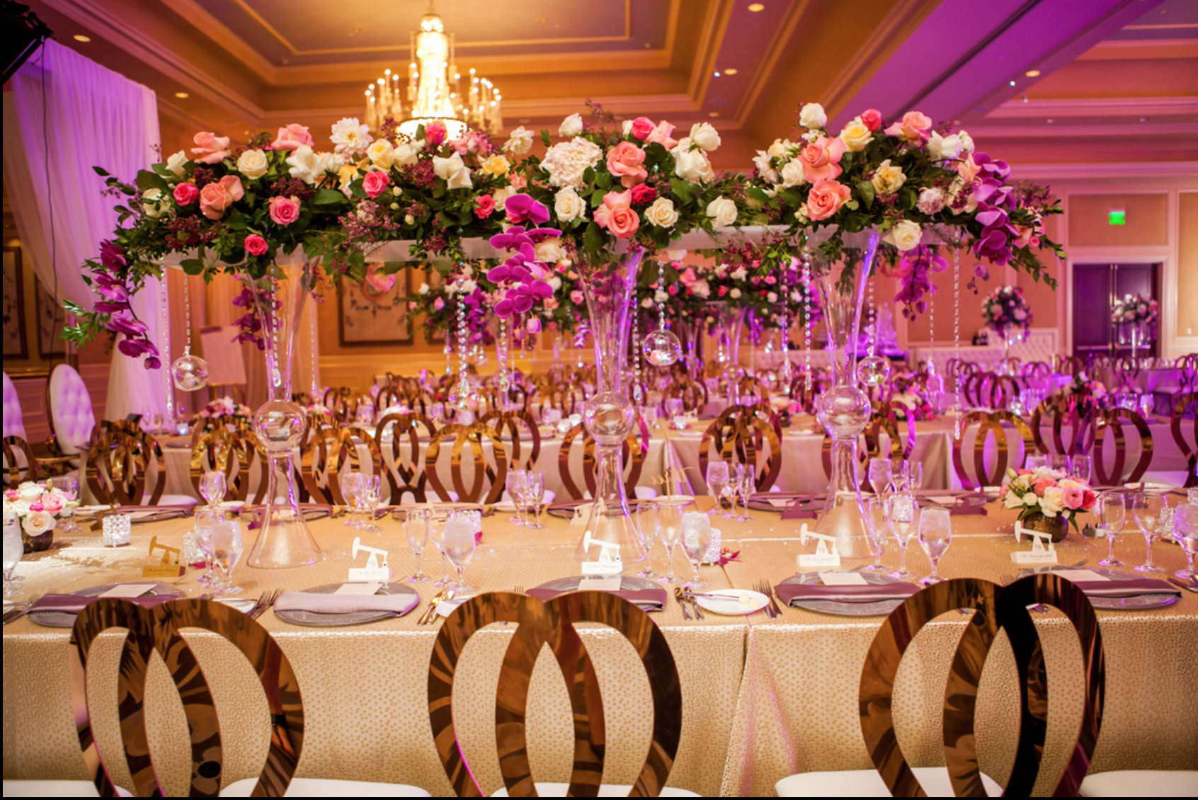 elegant floral las vegas wedding