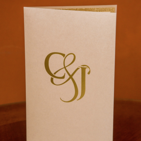 Monogram Gold Foil Invitation