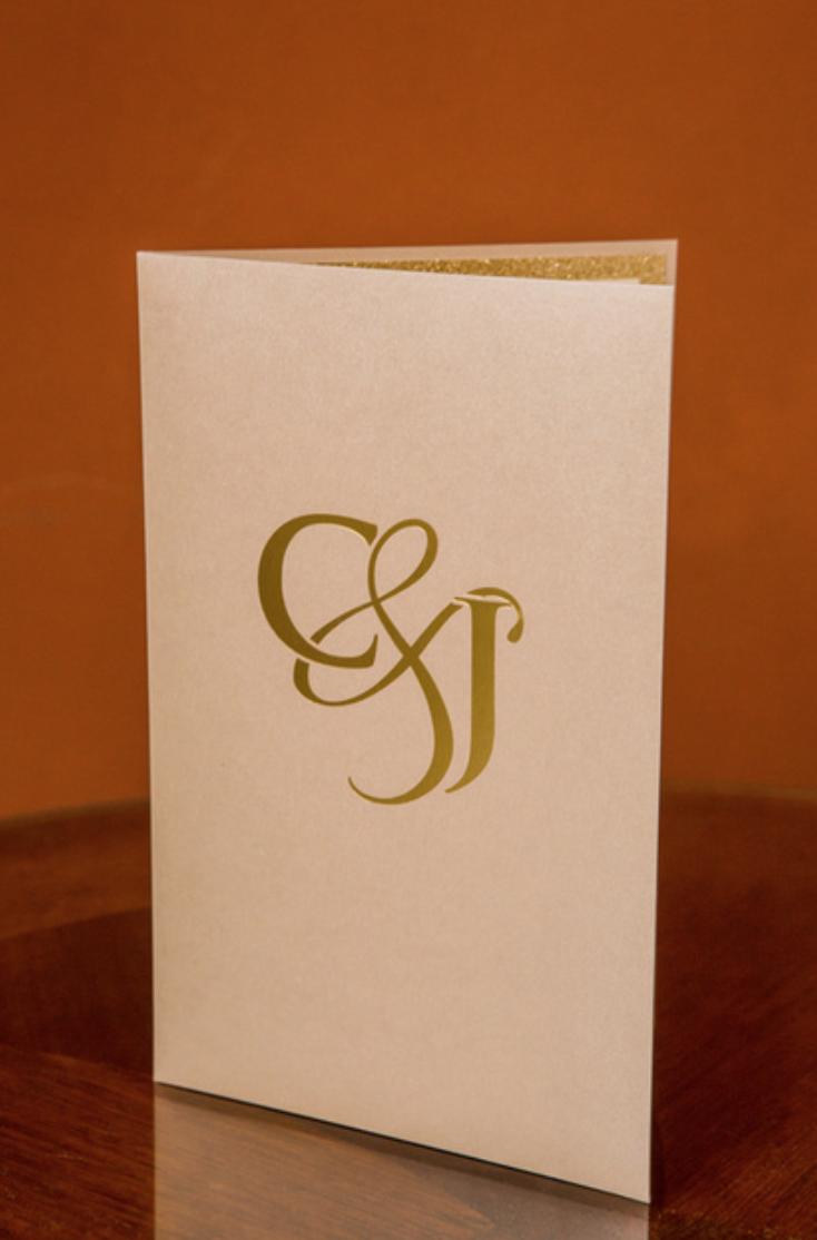 Monogram Gold Foil Invitation