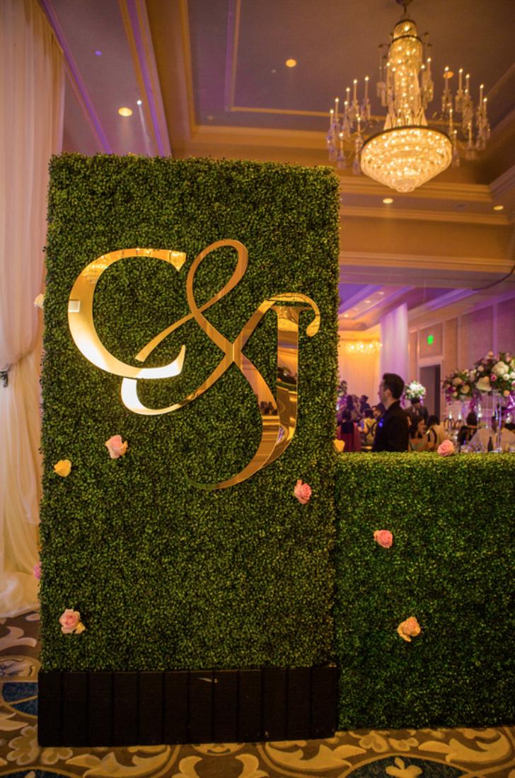wedding monogram entry way